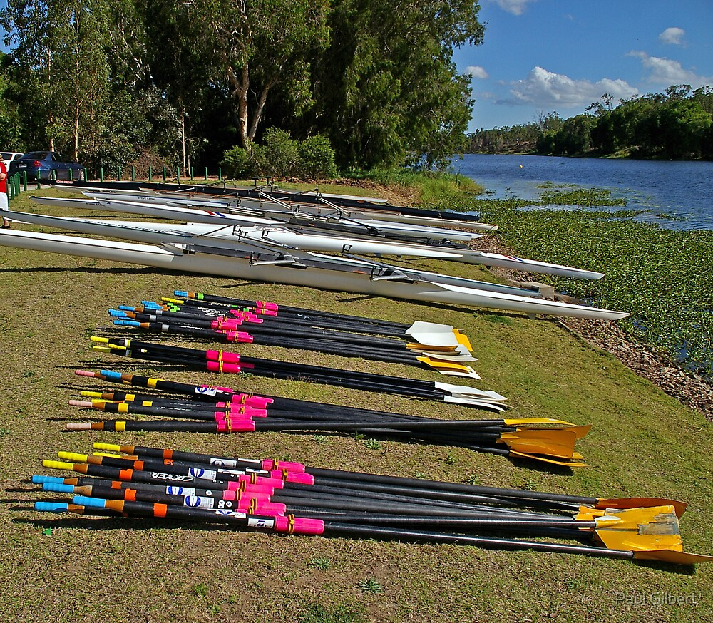 Lined up - Riverway Rowing Club by Paul Gilbert