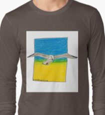 Soaring seagull in a clear sky T-Shirt