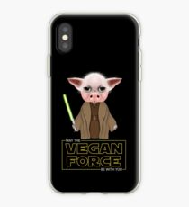 MAY THE VEGAN FORCE BE WITH YOU iPhone Case