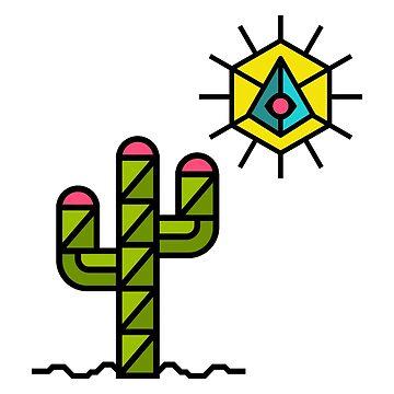 Cactus and sun, California, Mexico, Australia, Desert, Cacti by lavalova