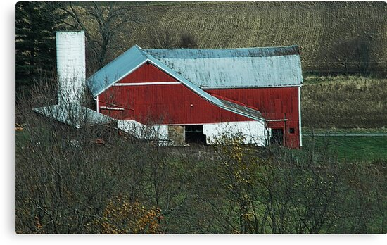 Old Red Barn by Kathleen Struckle