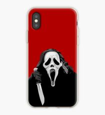 Scream - Ghostface with knife and phone iPhone Case