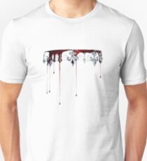 Silver and Red Unisex T-Shirt