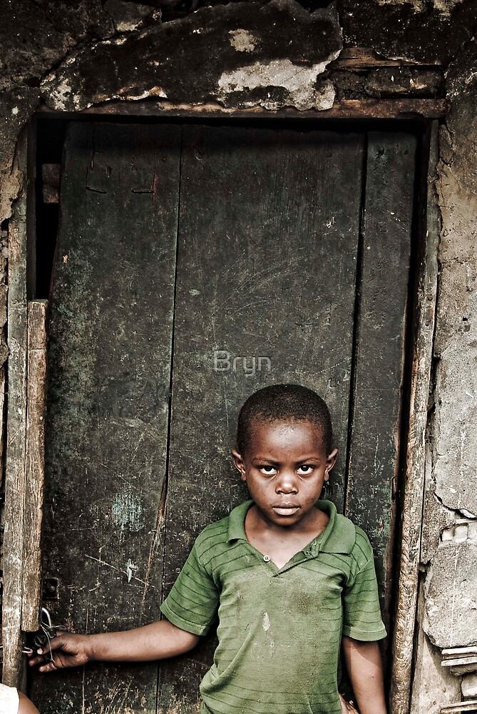 Little Boy with textured door by Bryn