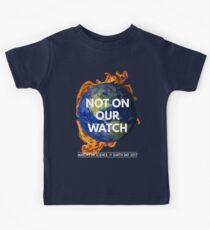 Nicht auf unserer Uhr: März für die Wissenschaft 2017 Kinder T-Shirt