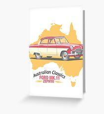 Ford Mark 2 Zephyr-Classic Australian Cars Greeting Card
