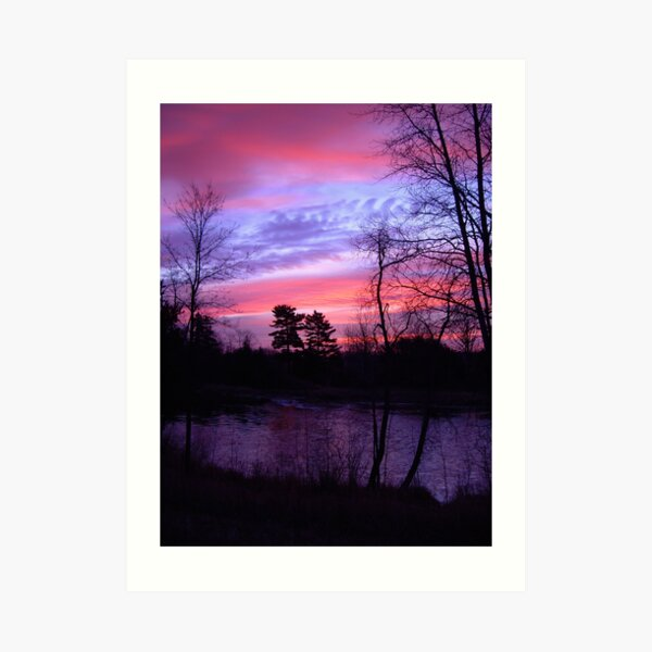 Red Skies in November Art Print