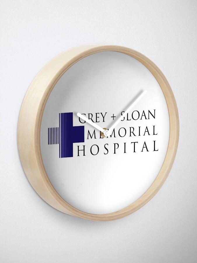 Alternate view of Grey + Sloan Memorial Hospital Clock