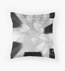 Surreal city perspective  Throw Pillow