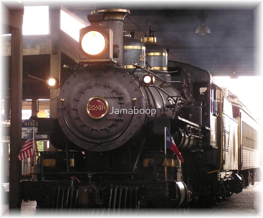 steam locomotive by Jamaboop