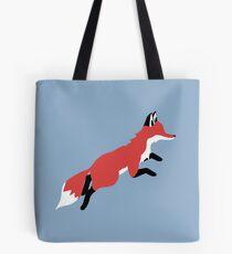 Fox Leaping Tote Bag