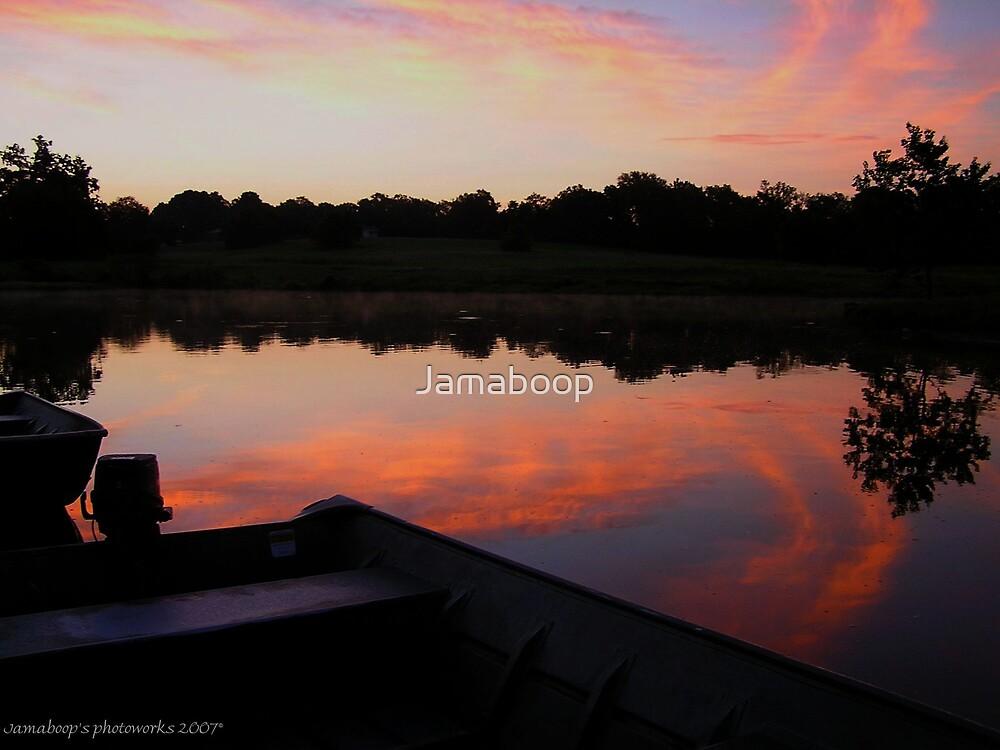 Sunrise on the lake by Jamaboop