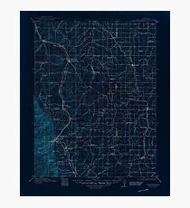 USGS TOPO Map Colorado CO Castle Rock 402980 1913 125000 Inverted Photographic Print