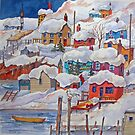 Snow on the Rock or Winter in St. John's (Newfoundland) by bevmorgan
