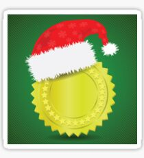 gold medal and Santa hat Sticker