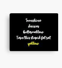 Stupid Fat Rat Yellow  Canvas Print