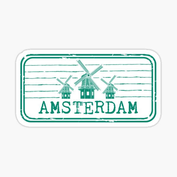 Amsterdam Stamp Sticker