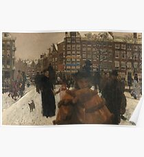 George Hendrik Breitner - The Bridge Over The Singel At The Paleisstraat, Amsterdam Poster