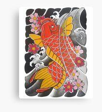 Koi x Sakura Canvas Print