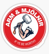 Arm & Mjolnir Sticker