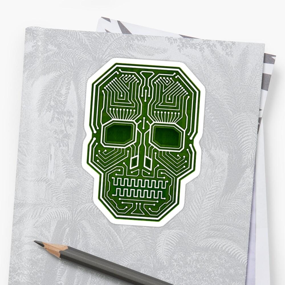 Schädel-Hacker lokalisierte Version Sticker