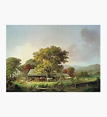 George Henry Durrie - Autumn In New England, Cider Making Photographic Print