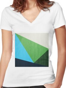 Triangles 002 Women's Fitted V-Neck T-Shirt
