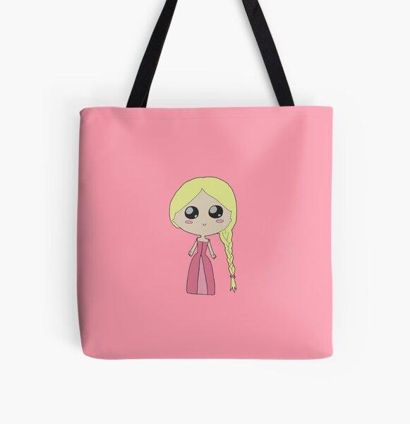 Kawaii Chibi Princess All Over Print Tote Bag