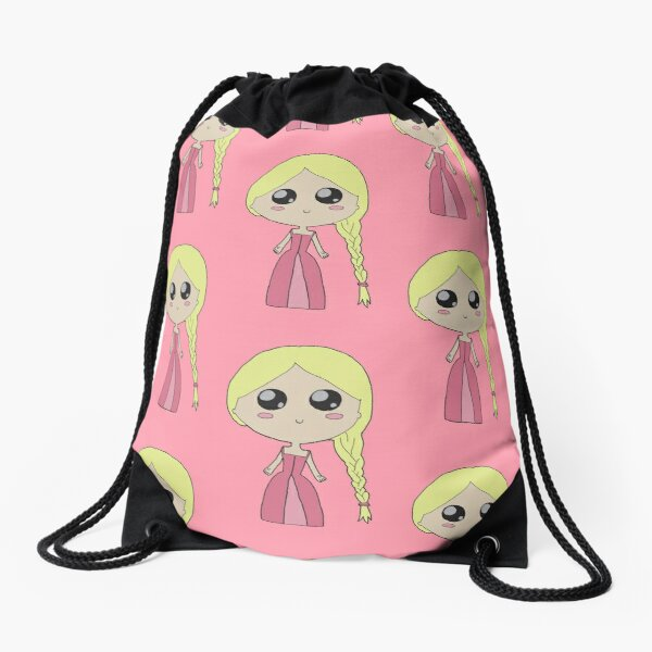 Kawaii Chibi Princess Drawstring Bag