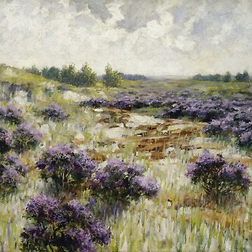 George Hitchcock - Field Of Heather by artcenter