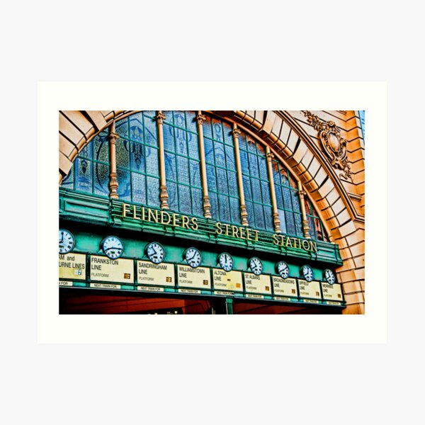 Melbourne Series - The Clocks, Flinders Street Station Art Print