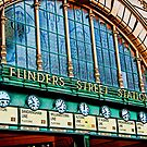 Melbourne Series - The Clocks, Flinders Street Station by sparrowhawk