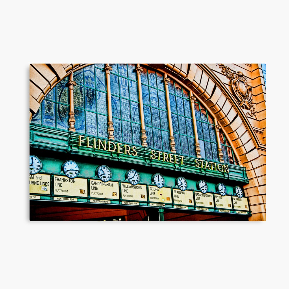 Melbourne Series - The Clocks, Flinders Street Station Canvas Print