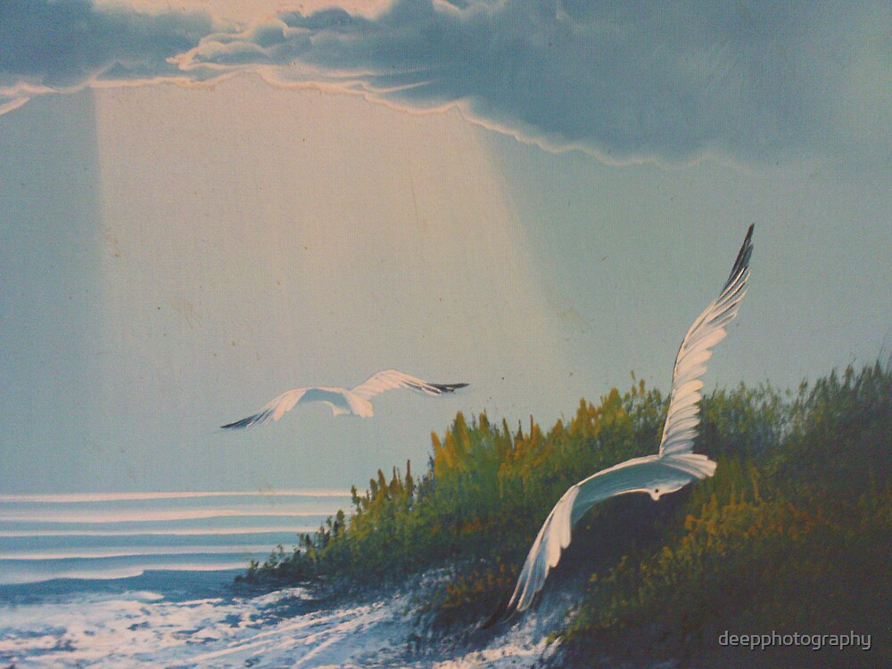Sea Gulls Escaping by deepphotography