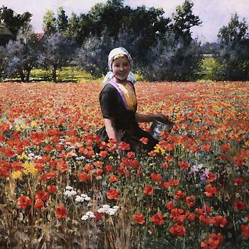 George Hitchcock - The Poppy Field by artcenter
