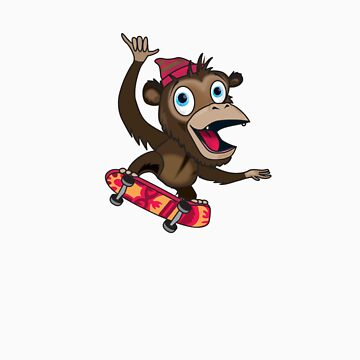 Skater Ape by flamingrhino