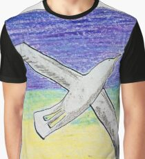Gliding seagull in the summer sky Graphic T-Shirt