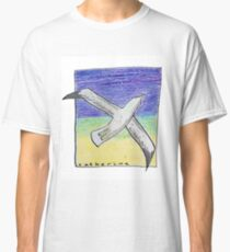 Gliding seagull in the summer sky Classic T-Shirt