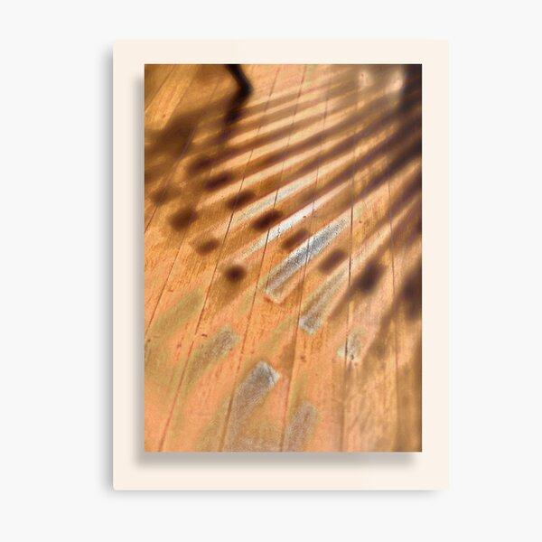 Shadowed floorboards Metal Print