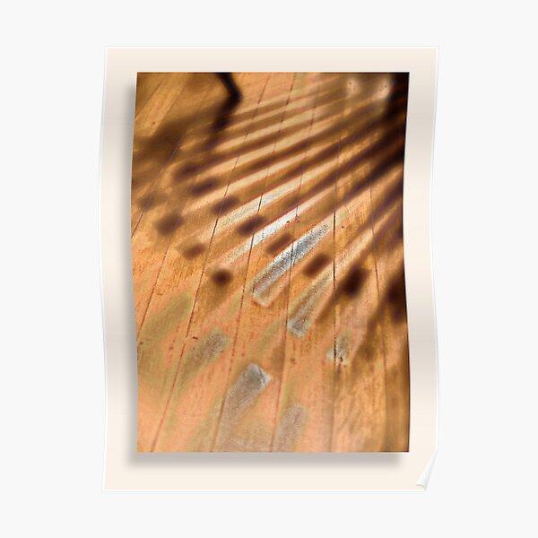 Shadowed floorboards Poster