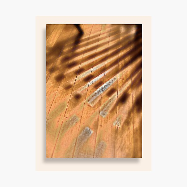 Shadowed floorboards Photographic Print