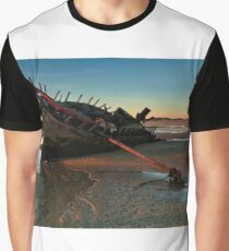 Ship Wreck In Morning Light Graphic T-Shirt