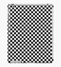 Seamless plaid pattern of black and white iPad Case/Skin