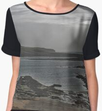 Seascape light breaking through clouds Chiffon Top