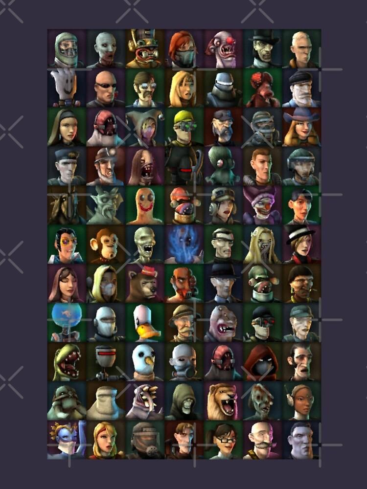 Personajes de TimeSplitters 2 de Daftknot