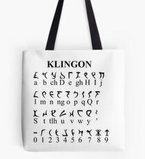 Klingon Alphabet Tote Bag