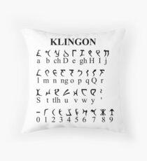 Klingon Alphabet Throw Pillow