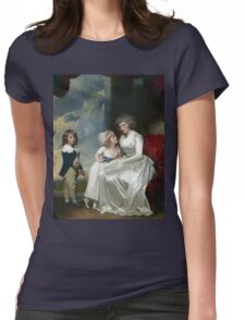 George Romney - Henrietta, Countess Of Warwick, And Her Children Womens Fitted T-Shirt