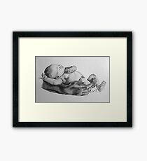 Safe in daddys arms Framed Print