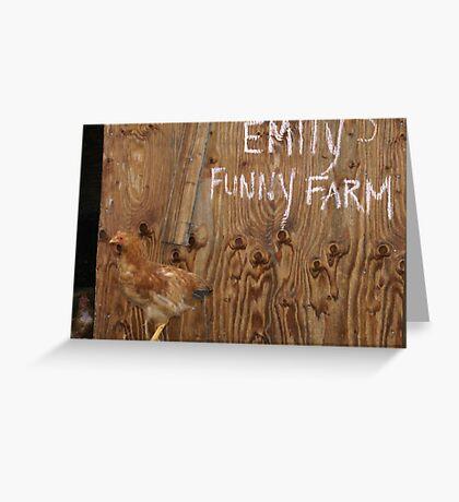 Emily's Funny Farm Greeting Card